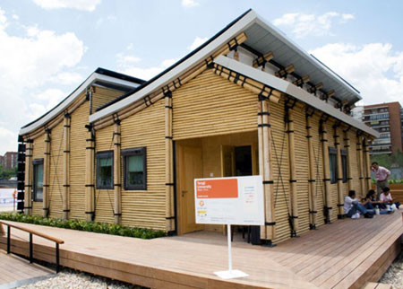 Gambar Rumah Modern on Gambar Desain Rumah Bambu Minimalis Modern
